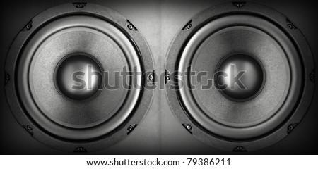 Background of black speaker with sphere