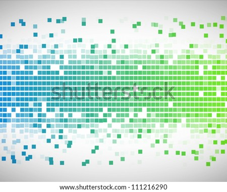 Background of blue and green squares