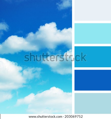 Sky Blue Color Palette Background of Blue Sky Color