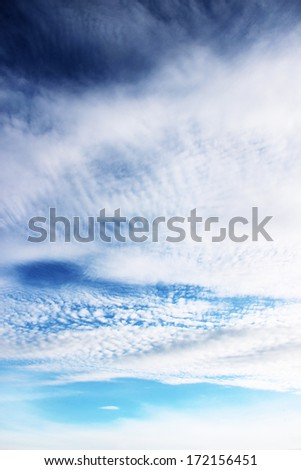 Background of blue sky with space for text