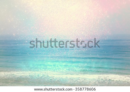 background of blurred beach and ...
