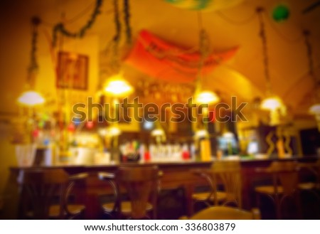 background of blurred cafe