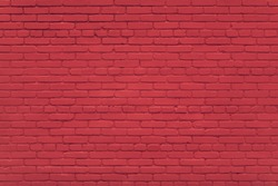 Background of brick red wall