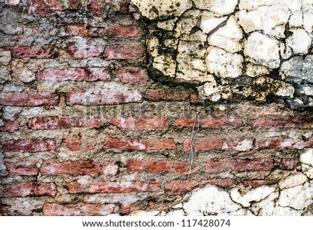 Background of brick wall for texture