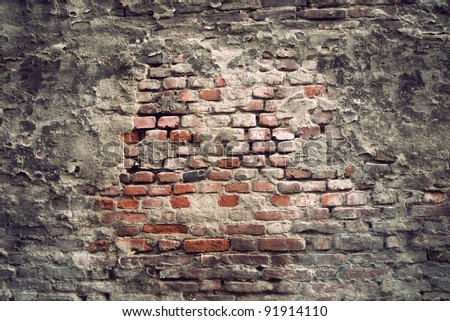 background of brick wall with vintage look