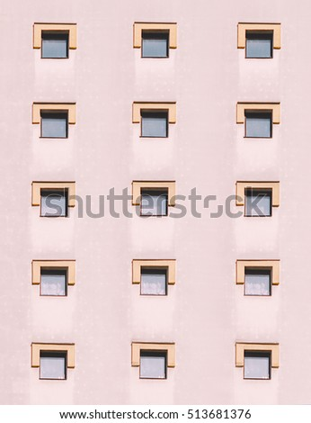 Background of building with windows and wall #513681376