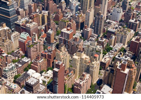 Background of Buildings in Downtown New York City