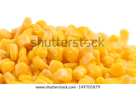 Background of canned corns.