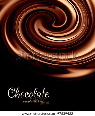 Background of chocolate