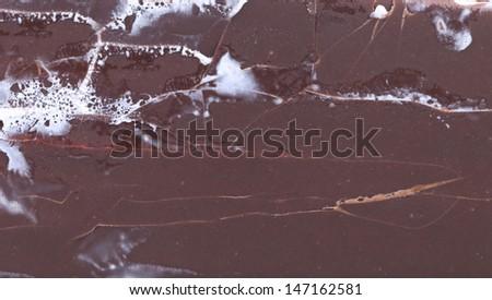 Background of chocolate vanilla ice cream.