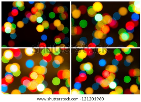 background of Christmas light pack