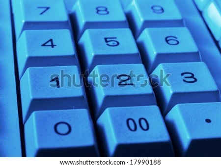 Background of closeup of numbers on calculator keypad
