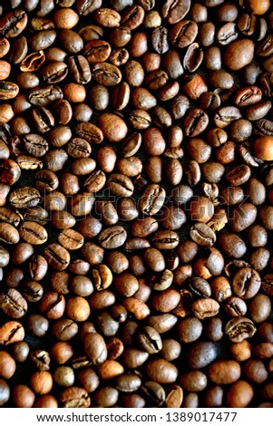 Background of coffee beans. Coffee beans texture. Coffee beans