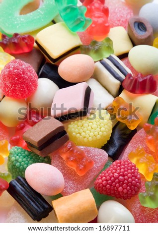 Background of colorful candies