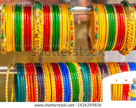 Indian Bangles in a shop Free Images and Photos - Avopix com