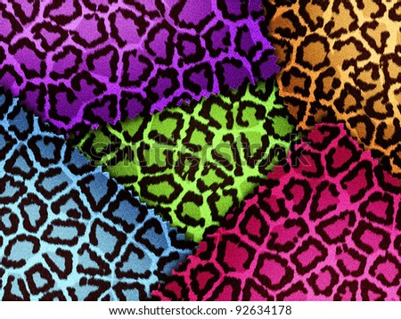 Background of colorful leopard skin
