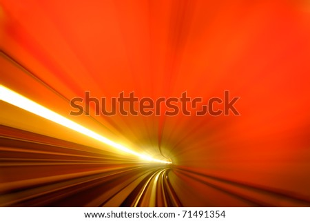 Background of  colorful scene of tunnel.