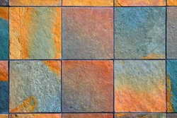 background of colorful slate stones horizontal