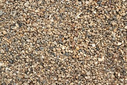 Background of colorful small pebbles or stone in garden