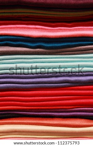 background of colorful thai silks