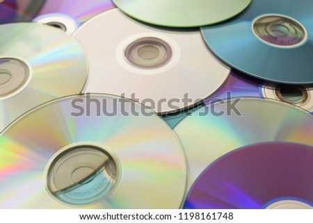 Background of compact discs. CD, DVD music #1198161748