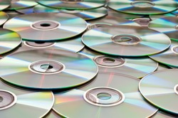 Background of compact disks or dvds