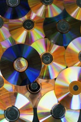 Background of compact disks or dvds - CD and DVD