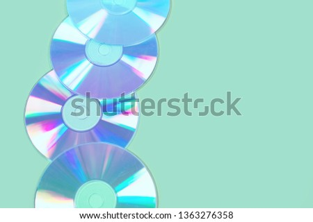 Background of compact disks or dvds top view