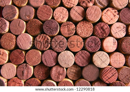 Background of corks stained with wine