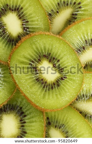 Background of cut kiwi fruit