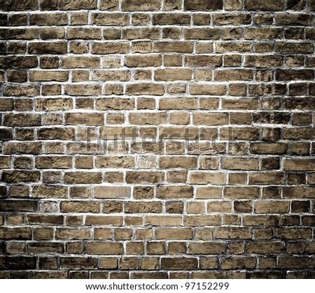 Background of dark black brickwall texture