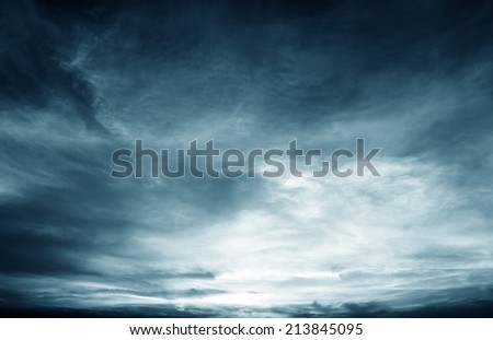 Background of dark clouds before a thunder-storm #213845095