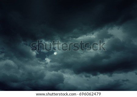 background of dark clouds...