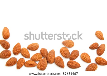 Background of delicious fresh almond kernels