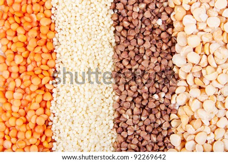 Background of different kinds of grains