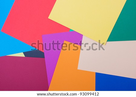 background of differently colored papers