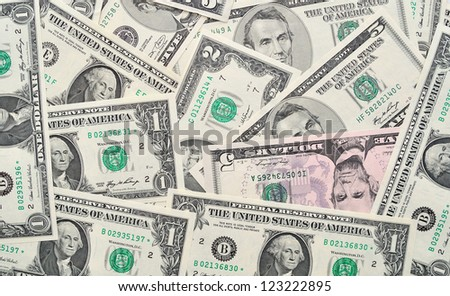 Background of dollar banknotes.