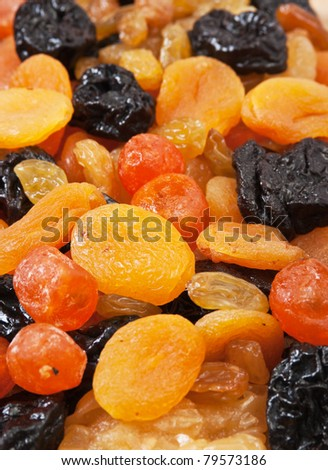 background of dried fruit slices
