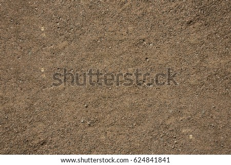 Background of dried up sand closeup, top view #624841841