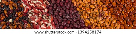 Background of dry beans, south american frijoles.