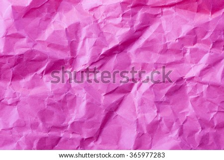 Background of empty wrinkled paper. Backdrop texture with copyspace and rough rumple surface. #365977283