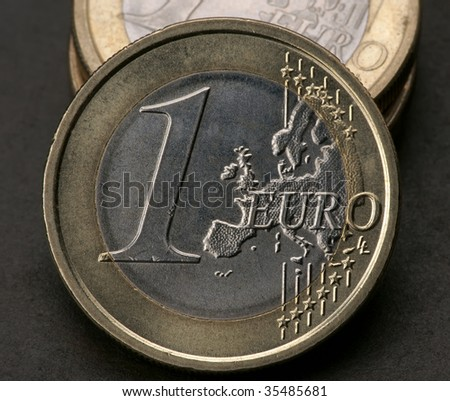 Background of Euro coins money