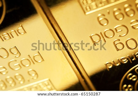 Background of fine gold in close up