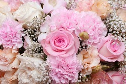 background of flower bouquets