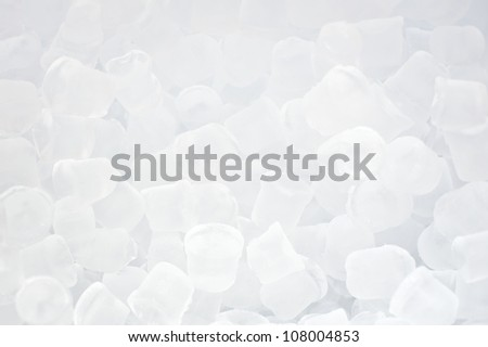 Background of fresh cool blue ice cubes