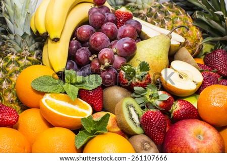 background of fresh fruits #261107666