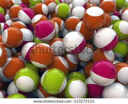 background of funny colorful spheres