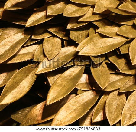 background of golden laurel leaves symbol of triumph and victory #751886833