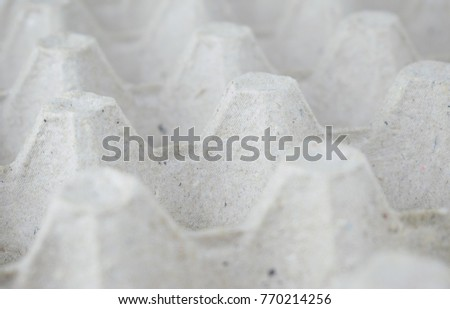Background of gray cardboard - egg tray #770214256