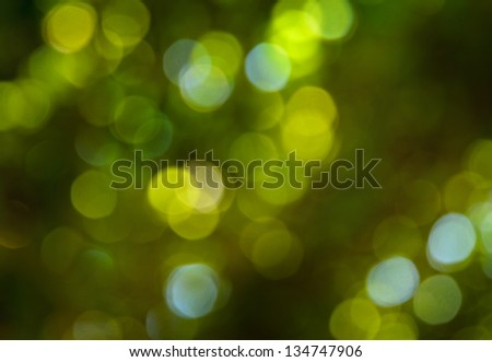 background of green bokeh